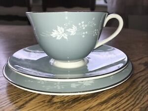 Vintage Royal Doulton Reflection TC1008 Tea Trio Translucent China