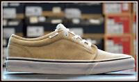 Vans Zapatos Hombre Mujer ZAPATILLAS DEPORTIVAS de SKATE RETRO Beige Textil