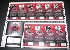 1996 Ottawa Rough Riders Season Tickets CFL Uncut Sheet Canadian Football League