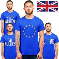 Brexit T Shirts European Union EU Stars Flag Royal Blue Remain May Exit UK Shirt