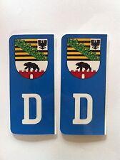 D-Sticker Auto Kennzeichen Wappen Sachsen-Anhalt Regional Halle Aufkleber Kfz