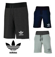 Brand New Adidas 3 Stripe Mens Cotton Shorts Gym Fitness Fleece Sweat