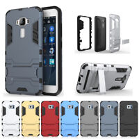 Shockproof For ASUS Zenfone Phones Hard Armor Hybrid Stand Silicone Case Cover