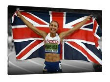 Jessica Ennis-Hill 30x20 Inch Canvas - Athletics Framed Picture Print