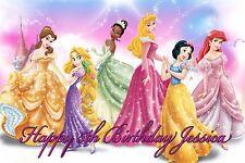 Personalized Disney Princess Birthday Poster Glossy Wall Decor Art Banner 24x36