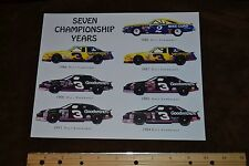 Photo of Dale Earnhardt Sr's. 'Seven Championship Years' Picture 7 x 10
