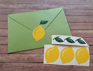 30 Lemon Stickers, vinyl removable wallpaper, lemon party,  lemonade