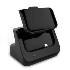Black Desktop Data Sync Charging Cradle Dock Station for HTC One M8 + USB Cable