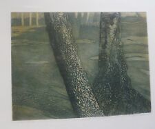 """Duo"", Two Trees Artist Proof Serigraph/Print-13"" x 16 3/4"" Irene Scheinmann"
