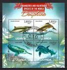 Animaux Dauphins Ouganda (213) série complète de 4 timbres oblitérés