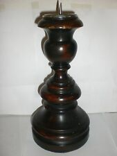 Wood and Pewter Candle Holder NEW WITH IMPERFECTIONS