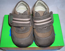 Perfection Jumping Jacks Boys Trail Brown Leather Tennis Shoes 4 M 620217A