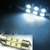2x 12V White Dome LED 6 SMD 31mm DC C5W Car Interior Bulb Light Lamp FR