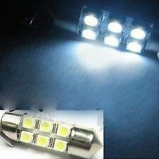 2x 12V White Dome LED 6 SMD 31mm DC C5W Car Interior Bulb Light Lamp FT