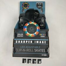 Sharper Image Led Adjustable Clip-N-Roll Skates