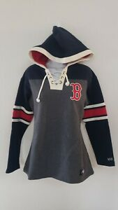 🔥🔥OFFICIAL BOSTON RED SOX MLB '47 THICK HOODIE WOMENS SMALL NEW⚾⚾