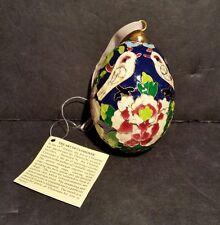 Art Of Cloisonne Egg Ornament Birds Flowers