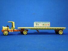 Vintage Winross Caravan Transport Flatbed Trailer Truck