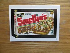 2004 WACKY PACKAGES ANS1 SERIES MCPAIN SMELLIO'S PIZZA CARD SIGNED JAY LYNCH,POA