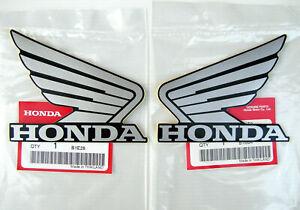 ORIGINAL Honda-CBR Wing Flügel-10cm-SILBER/SCHWARZ-Tank-Aufkleber-Sticker 100mm