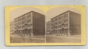 STEREOCARD- BUBIER'S NEW BLOCK- VIEWS OF LYNN, MASS & VICINITY/ WEBSTER