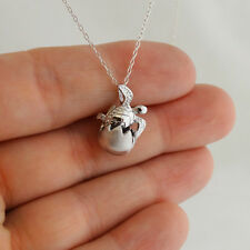 Hatching Baby Sea Turtle Necklace - 925 Sterling Silver - 3D Pendant Beach Ocean