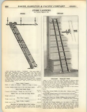 1923 PAPER AD 3 PG Chicago Myers Iowa Auto Store Library Rolling Ladder Wheeled