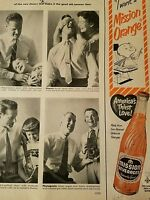 1953 Mission beverages orange soda bottle baby high color Ad