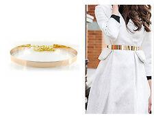 Damen Gürtel Metal Rose Gold Rund Taille Taillengürtel One Size Metallic #GG