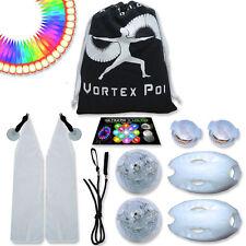 Vortex Poi w/ UltraKnobs - Flow Rave Dance Best Light Up Glow LED Poi Set Toy