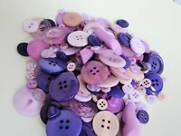 Purple and Lilac Buttons Assorted Assortment in Packs of 10, 20, 50 or 100