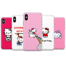 HELLO KITTY RUDE FUNNY PARODY PHONE CASE COVER FOR IPHONE 5 6 7 8 X 11