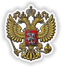 Escudo De Armas Rusia Adhesivo Para Camión Motocicleta Libro Pc Tablet Tanque De Gas Caja De Herramientas
