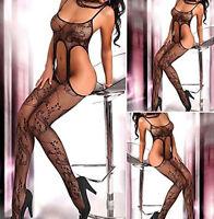 Women Sexy Fishnet Open Crotch Body Stocking Bodysuit Lingerie Nightwear Dress