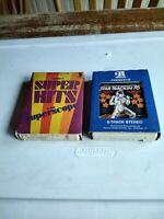 TESTED Lot of 2 SUPER HITS VOL. 1 & STAR TRACKIN' 76 Various Artist 8 Track TAPE