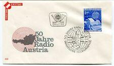 1974 First Day Ersttag 50 Jahre Radio Austria Drahtlose Telegraphie Osterreich