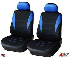 1+1 BLUE-BLACK FRONT SEAT COVERS FOR VW GOLF POLO PASSAT BORA JETTA TIGUAN NEW
