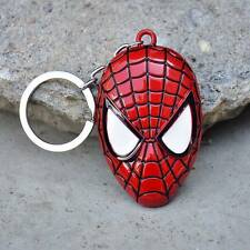 Superhero Spider Man Keychain Metal Pendant Car Keyrings Key Ring Key Chains