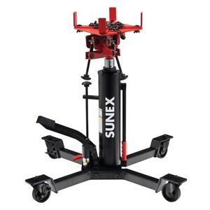 Sunex 7793B 1000 Lb 1/2 Ton Trans Transmission Jack Adjustable with Foot Pedal