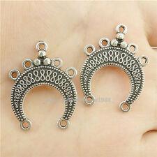 15904*15PCS Antique Silver Vintage Infinity Moon Pendant Connector Charm Alloy