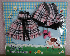 * WOW! BHC PRETTY IN PINK PLAID DRESS SET * BLYTHE * PULLIP * NEW * KAWAII *