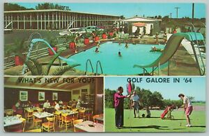 Salt Lake City Utah~Demmans Motel~Cafe~Golf Course~Standard Chrome Postcard