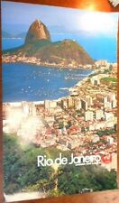 JAPAN AIRLINES RIO DI JANEIRO 1972 Vintage Travel poster BRAZIL SUGAR LOAF