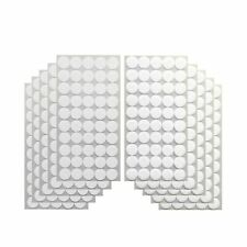 BEADNOVA 500pcs 10mm Sticky Back Coins Hook and Loop Self Adhesive Dots Tapes Waterproof Dot Hook White