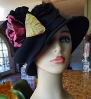 Krista Pearl Millinery One of a kind Spring Vintage Styled Romantic HatsBoho