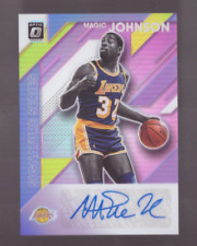 2019/20 Optic MAGIC JOHNSON Signature Series Auto Pink Holo SP 14/25 Lakers