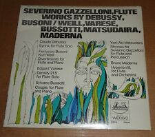 Severino Gazzelloni DEBUSSY/VARESE/BUSSOTTI/MADERNA - Heliodor 2549 002 SEALED