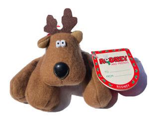 "Burger King Rodney The Reindeer 5"" Beanbag Rodney & Friends 1987 Christmas Toy"