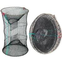 Lobster Crab Net Bait Live Trap Pot Eel Fish Prawn Shrimp Fishing Cage N3T7
