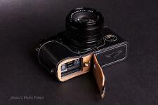 Genuine Real Leather Half Camera Case bag Cover for FUJIFILM X-Pro1 Bottom Open